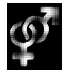 white halftone heterosexual symbol icon vector image