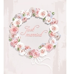 wreath made roses vector image