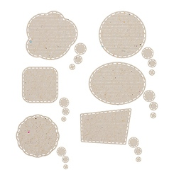 Bubble talk tag recycled paper paths inside vector