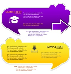 colorful speech frame for text vector image