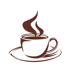 Steaming cup of full roast coffee vector image vector image