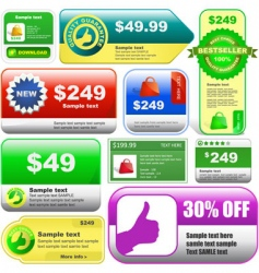 various sale design elements vector image