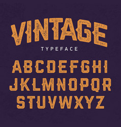 vintage typeface retro style font vector image