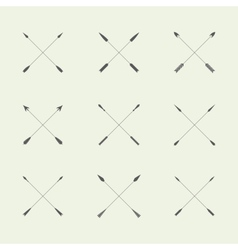 Flat design arrow set of symbols logo template vector image vector image