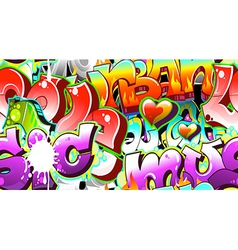 Graffiti Urban Art Background vector image vector image