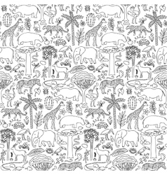 Hand drawn Africa seamless pattern vector image
