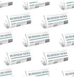 Pattern of folded Business News newspapers vector image