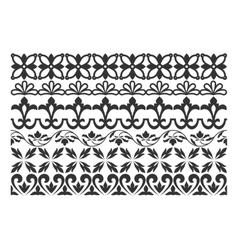 Set of borders for design vector image vector image