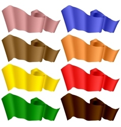 Colorful Ribbons Isolated on White Background vector image