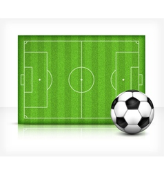 Football playing field vector image vector image