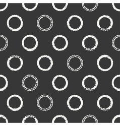 Hand drawn seamless pattern with black grunge vector image