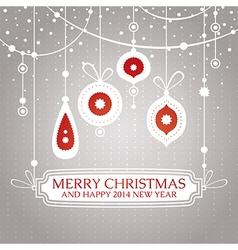 Christmas retro vintage greeting card vector image vector image