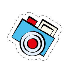 comic photo camera image vector image vector image