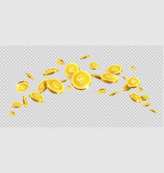 gold coins or golden money coin splash splatter on vector image vector image