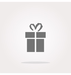 Holiday gift box icon web button Web Icon vector image vector image