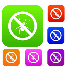 No spider sign set collection vector