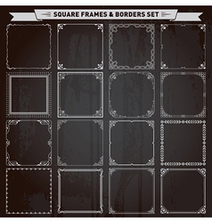 Square Frames and Borders vector image vector image