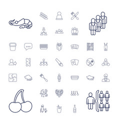 37 group icons vector