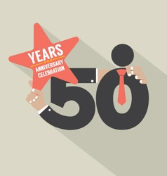 50 Years Anniversary Typography Design Illu vector