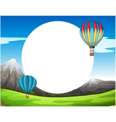 a hot air balloon template vector image