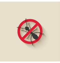 ant warning sign vector image