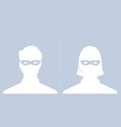 Avatar head profile silhouette call center thief vector