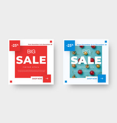 big sale square banner template with red and blue vector image