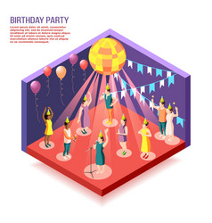 birthday party isometric vector image