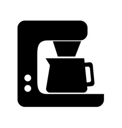 black coffe maker graphic design vector image