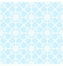Blue lace pattern vector