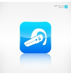 Bluetooth Headset icon Wireless connection vector image
