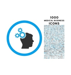 business idea rounded icon with 1000 bonus icons vector image