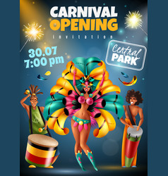 carnival announcement poster vector image