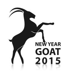 Chinese New Year 2015 of goat EPS10 vector image