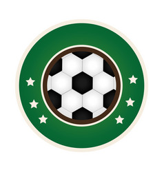 Circular border with soccer ball with decorative vector