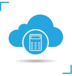 Cloud storage space price calculation icon vector