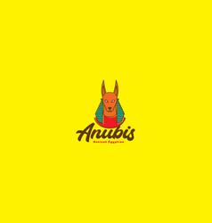 Colorful egypt anubis dog logo symbol icon design vector