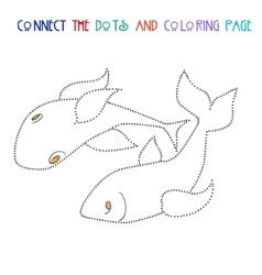 Connect the dots game fish vector