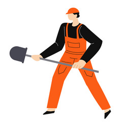 construction works and building worker in hardhat vector image