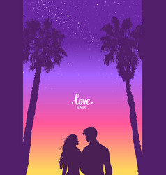 couple palm tree vector image