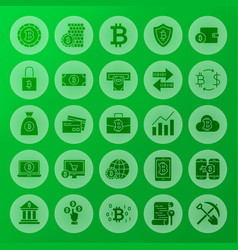 cryptocurrency solid circle icons vector image