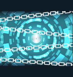 cyber security technology background concept vector image