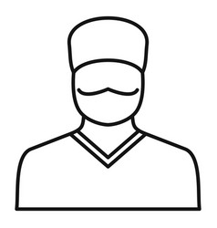 Doctor avatar icon outline style vector