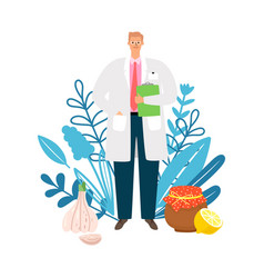 Doctor homeopath vector