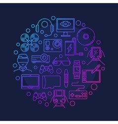Electronic devices and gadgets symbol vector
