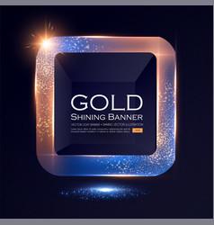 Elegant shining square banner with glitter light vector
