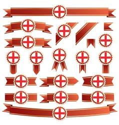 England ribbons vector