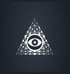 eye in techno pyramid big brothers vector image