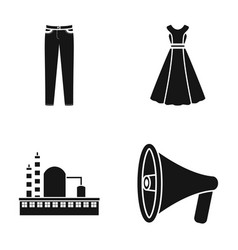 Fashion atelier and or web icon in black style vector