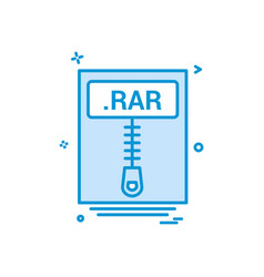File files rar icon design vector